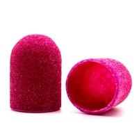 Silver Kiss, Колпачок абразивный на тканевой основе 13 мм, розовый 120 грит