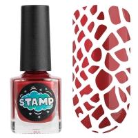 IRISK professional, Лак-краска для стемпинга Stamp Chrome №005 Красный дракон, 8 мл