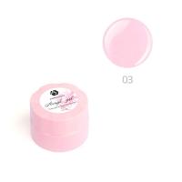 ADRICOCO, Акригель для наращивания ногтей №03 камуфлирующий глубокий розовый (10 мл.)