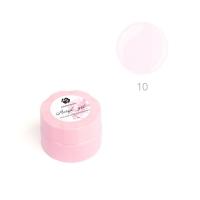 ADRICOCO, Акригель для наращивания ногтей №10 камуфлирующий прозрачный розовый (10 мл.)