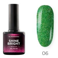 Гель-лак светоотражающий TNL Shine Bright №06 - Изумрудная вуаль (10 мл.)