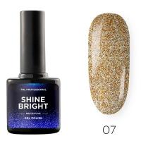 Гель-лак светоотражающий TNL Shine Bright №07 - Золотой блеск (10 мл.)