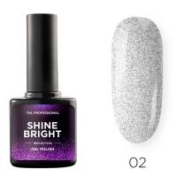 Гель-лак светоотражающий TNL Shine Bright №02 - Голографический космос (10 мл.)