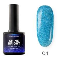Гель-лак светоотражающий TNL Shine Bright №04 - Морская волна (10 мл.)