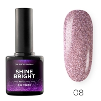 Гель-лак светоотражающий TNL Shine Bright №08 - Чайная роза (10 мл.)