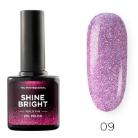 Гель-лак светоотражающий TNL Shine Bright №09 - Сиреневый туман (10 мл.)