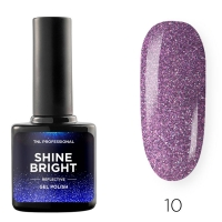 Гель-лак светоотражающий TNL Shine Bright №10 - Космическая бабочка (10 мл.)