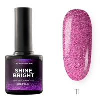 Гель-лак светоотражающий TNL Shine Bright №11 - Малиновый закат (10 мл.)