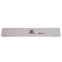 TNL, Пилка для ногтей широкая 180/240 высокое качество (серая) в индивидуальной упаковке