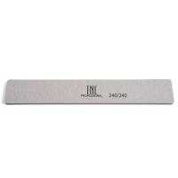TNL, Пилка для ногтей широкая 240/240 высокое качество (серая) в индивидуальной упаковке