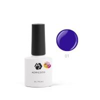 ADRICOCO, Гель-лак Pretty dolly №01 сине-фиолетовый (8 мл)