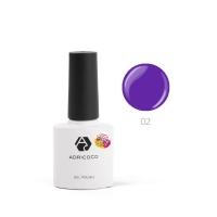ADRICOCO, Гель-лак Pretty dolly №02 фиолетовый (8 мл)