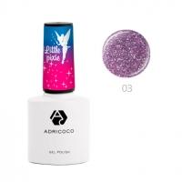 ADRICOCO, Цветной гель-лак Little Pixie №03 - Цветочная пыльца (8 мл)