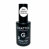 Grattol , База Каучуковая для гель-лака Rubber Base Universal Pedicures, 9 мл