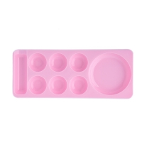 TNL, Палитра для разведения цветных гелей, красок с ячейками (узкая) - розовая