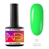 TNL, Цветная база Neon dream base №01- яблочный мармелад, 10 мл