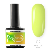 TNL, Цветная база Neon dream base №02- лимонный крем, 10 мл