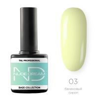 TNL, Цветная база Nude dream base №03- банановый сироп, 10 мл
