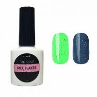RuNail, Топ для гель-лака Top Сoat Mix Flakes, 7 мл