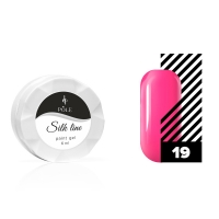 POLE, Гель-краска для тонких линий Silk line №19 неоновый розовый, 6 мл