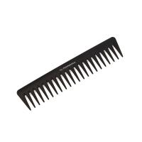 TNL, Расческа для волос с широкими зубьями карбон, 189 мм, черная