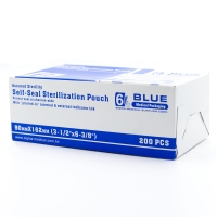 Пакеты для стерилизации, самозапечатывающиеся, бумага/пластик, 90мм х 162мм, 200 шт, автоклав