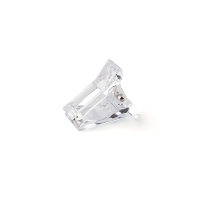 Зажим-прищепка пластиковая для фиксации верхних форм, прозрачная