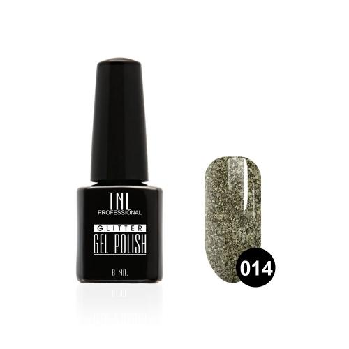 Гель-лак TNL - GLITTER №14 - Серый (6 мл.)