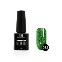 Гель-лак TNL - GLITTER №33 - Зеленый с мелким шиммером (6 мл.)