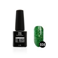Гель-лак TNL - GLITTER №35 - Зеленый с крупным шиммером (6 мл.)