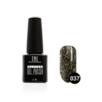Гель-лак TNL - GLITTER №37 - Черный (6 мл.)