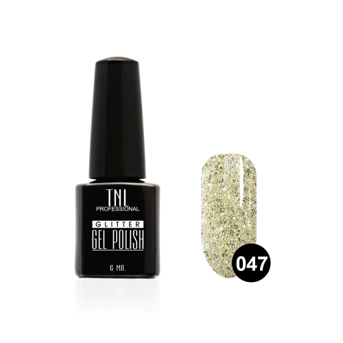 Гель-лак TNL - GLITTER №47 - Дымчато-белый (6 мл.)