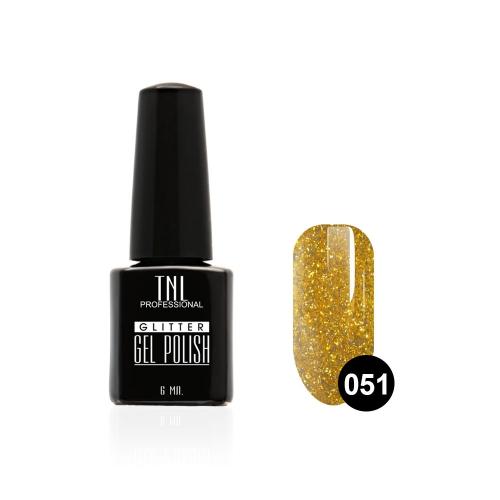 Гель-лак TNL - GLITTER №51 - Золото с мелким шиммером (6 мл.)