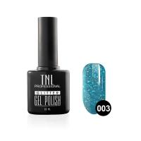 Гель-лак TNL - GLITTER №03 - Голубой (10 мл.)