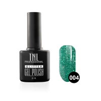 Гель-лак TNL - GLITTER №04 - Изумрудный (10 мл.)