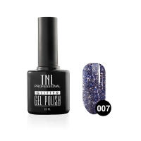 Гель-лак TNL - GLITTER №07 - Синий (10 мл.)