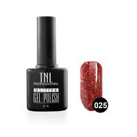 Гель-лак TNL - GLITTER №25 - Красный апельсин (10 мл.)