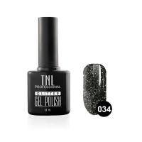 Гель-лак TNL - GLITTER №34 - Мокрый асфальт (10 мл.)