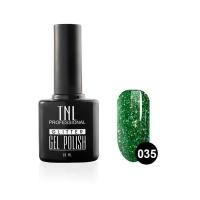 Гель-лак TNL - GLITTER №35 - Зеленый с крупным шиммером (10 мл.)