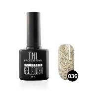 Гель-лак TNL - GLITTER №36 - Серебряный с крупными блестками (10 мл.)