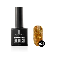 Гель-лак TNL - GLITTER №38 - Нарциссово-желтый (10 мл.)