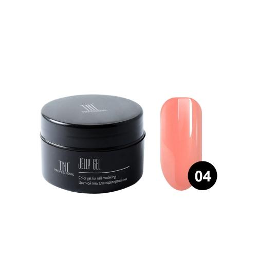 Гель-желе TNL №04 камуфлирующий розово-персиковый (18 мл.)