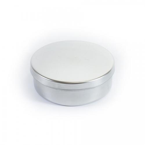 Металлический круглый с крышкой и разделителем круглый для дезинфекции