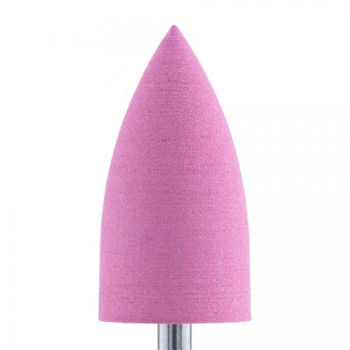 Полир силикон-карбидный Конус, 10 мм, тонкий, 410, розовый