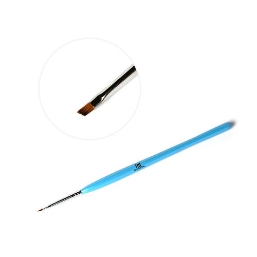Кисть скошенная TNL для росписи (голубая)
