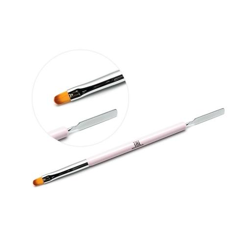 Кисть-шпатель для акрил-геля TNL (розовая)
