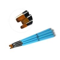 Набор кистей TNL для гелевого дизайна (голубой) - 4 шт.