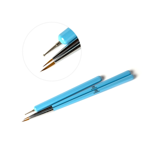 Набор кистей TNL для росписи+дотс (голубой)