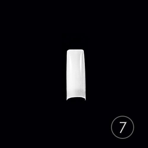Типсы TNL классические белые №7, узкая к/з, в пакете (50 шт.)