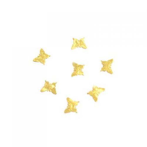 Дизайн золотистый металл TNL - Бабочки малые (20 шт/уп)